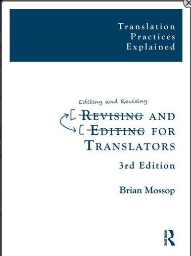Mossop's book on editing and revising